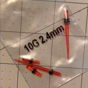 Red 10g gauges